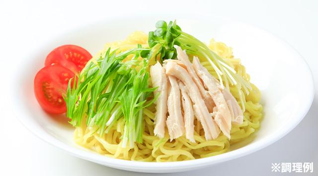 冷し酸辣つけ麺の調理例の写真