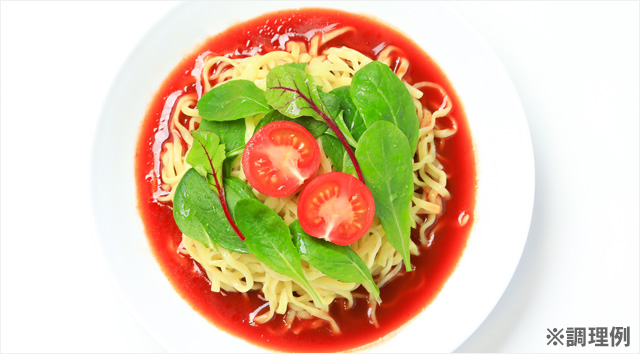 トマト冷麺の調理例の写真